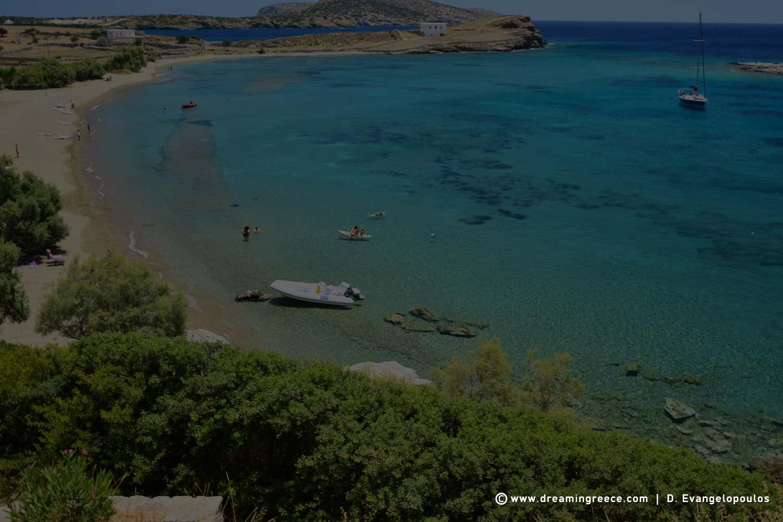 Schinoussa beaches Tsigouri beach Cyclades Greece