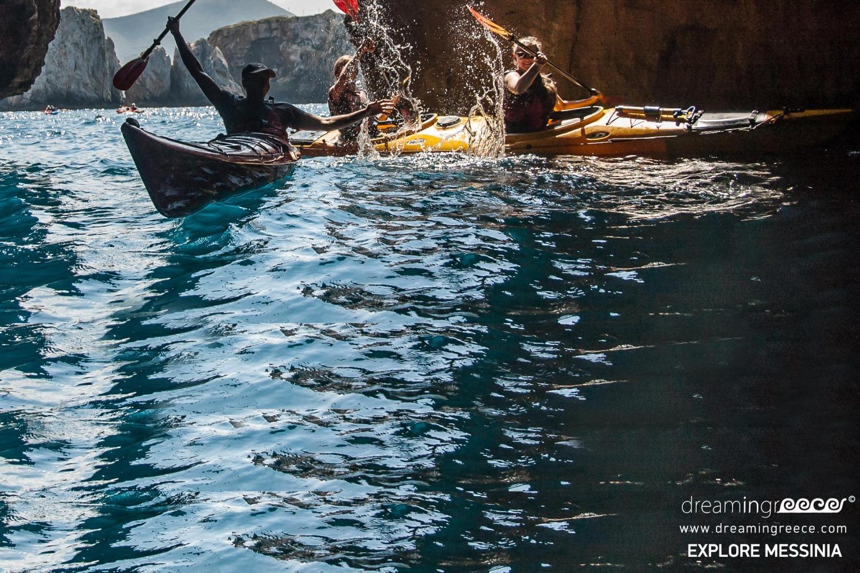 Explore Messinia Sea Kayaking Greece. Summer Holidays. Sea Kayak in Greece
