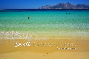 Vacations Greek islands Greece. Holidays Small Cyclades islands.