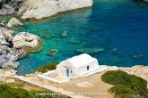 Travel Guide of Greece. Agia Anna beach in Amorgos Greece