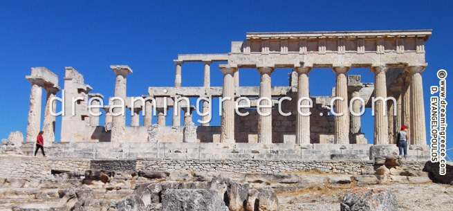 Temple of Aphaia - Aegina Greece. Summer Holidays in Greece.