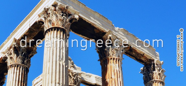 Temple of the Olympian Zeus - Athens Greece