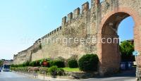 Byzantine Walls - Trigoniou Tower Thessaloniki. Sightseeing in Greece