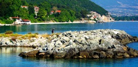 Summer Holidays in Platamona. Platamonas Castle Pieria Greece.