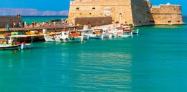 Holidays in Heraklion Crete island Greece. Vacations Greek islands.