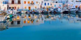 Holidays in Paros island Cyclades Greece. Vacations Greek islands.